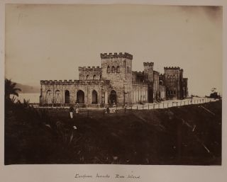 [Album with Forty Rare Early Albumen Photographs, Collected by a British Officer Stationed in Burma in the 1870s, and Showing the Great Golden Padoga and British Officers' Mess in Rangoon/Yangon, Kyaikpun Pagoda near Pegu/Bago, the Elephant Battery and River Views at Tonghoo/Taungoo, Portraits of British Officers and Civil Residents, Burmese People, and Nine Photos of the British Penal Colony on the Ross and Viper Islands of the Andaman Group].