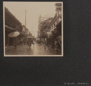 [Collection of Two Albums with Over 310 Early Original Gelatin Silver Snapshot Photos Taken by an American Traveller in Japan].