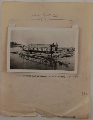 [Historically Important Extensive Collection of over 350 Loose and Mounted Gelatin Silver Photos, Taken and Collected by Noted American Ichthyologist Alber William Herre during his Service as the Chief of Fisheries with the Bureau of Science in Manila in 1919-1928, and his Subsequent Trips to the Philippines in the 1930s and later; the Collection Includes Photos of Herre, Fisheries' and Government Officials, Different Species of Fish, Fishing Activities across the Islands, Rare Ethnographical Photos from the Agusan River Valley (Mindanao) and Muslim-dominated Lake Lanao (Mindanao) and the Sulu Archipelago, etc.]