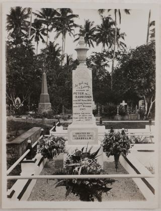"""[Collection of 63 Loose Albumen and Gelatin Silver Photos of Samoa During the German Rule and Shortly After Its Occupation by New Zealand, from the Estate of Karl Hanssen, General Manager of """"Deutsche Handels- & Plantagen Gesellschaft der Südsee-Inseln""""]."""