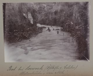 [Album of Eighty Gelatin Silver Photographs, Including Thirty-Two of Sulawesi, Twenty-Three of Sumatra, Twelve of South Sumatra, five of Lei Lei Island, five of New Guinea, two of Ternate Island, and one of Taliabu Island, Including many Ethnographic ones Taken and Compiled by a German Colonial Resident Involved in Maritime Transport in Sulawesi and Kalimantan.]