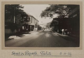 [Two Albums with 192 Original Gelatin Silver Snapshot Photos Taken by British Travellers, Including 142 photos from a Car and Railway Trip Across New Zealand's North and South Islands, 29 photos of Southern Australia from Perth to Sydney, and Views of Rarotonga, Tahiti, Moorea, Celebration of Crossing the Equator, etc.]