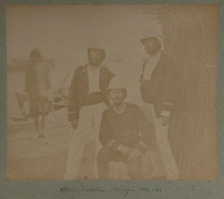 [Rare Collection of Twenty-four Very Early Large Original Albumen Photographs Which Document Borgnis-Desbordes Military Expeditions From Upper Senegal into French Sudan (Mali). French and Indigenous Troops are Shown, as well as the Indigenous Peoples Including Chiefs and Settlements Including Forts and Villages Encountered].