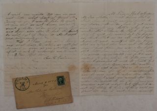 Original Autograph Letter Signed by a Young Californian Farmer to His Mother, Talking about...