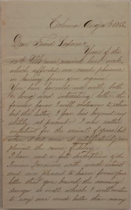 Historically Significant Original Autograph Letter Signed by a Canadian Immigrant to the Gold...