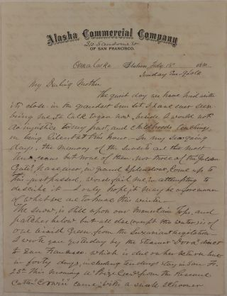 "Original Autograph Letter Signed by ""Frank"" to His Mother, Mentioning ACC's Steamship..."