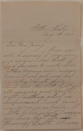 Original Autograph Letter Signed by Julia Haley, Daughter of Noted Sitka Pioneer and Miner...