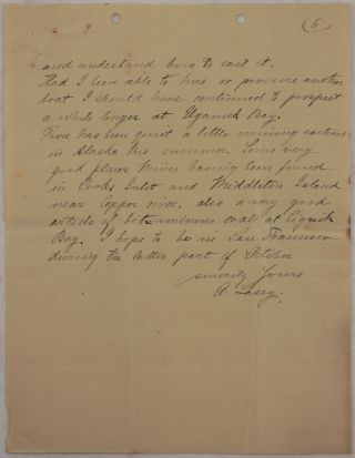 [Collection of Two Extensive Autograph Letters Signed by Gold Miner and Surveyor Albert Lascy, Giving a Detailed Account of His Gold Exploration near Karluk, Uyak and Uganik Bays on the Northern Kodiak Island].