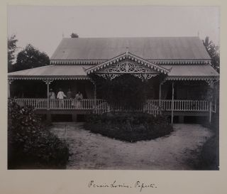 [Historically Interesting Collection of Twenty-four Gelatin Silver Photographs of Views of French Polynesia Including Views from the Islands of Moorea, Raiatea and Tahiti, Showing the Native People, Their Daily Activities, Habitations and Villages, Important Landmarks and Colonial Buildings].