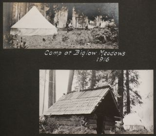 [Album of 93 Original Gelatin Silver Photographs of Northern California, with Vivid Camping, Hiking, Boating and Fishing Scenes].