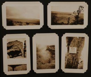 [Album of Over 280 Original Gelatin Silver Photographs, Taken by an American Soldier During His Service in the US Army Hawaiian Division, with Interesting Photos of Schofield Barracks and Soldiers, Oahu Island and Hawaii Volcanos National Park].