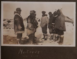 [Album with ca. 300 Mounted and 45 Loosely Inserted Original Gelatin Silver Photographs Showing Hudson's Bay Company's Posts in Nunavut, HBC Boats and Officers Voyaging along the Arctic Coast of the Northwest Territories and Yukon, and Portraits of Inuit People]
