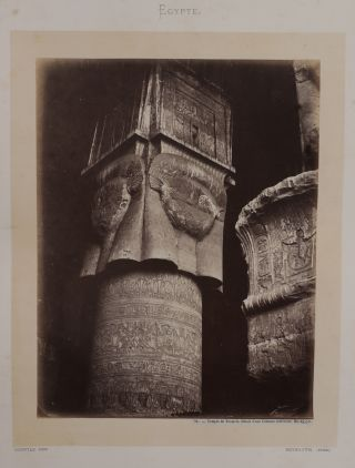 Album with Forty-five Early Large Original Black Signature Bonfils Albumen Photographs of Egypt...