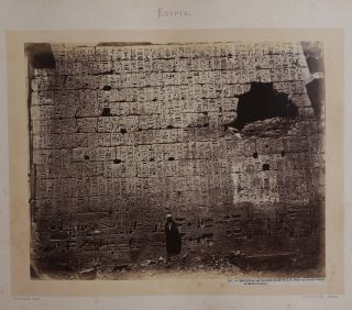 [Album with Forty-five Early Large Original Black Signature Bonfils Albumen Photographs of Egypt Showing Thebes, Dendera, the Pyramids, Cairo and Alexandria Titled:] Egypte.