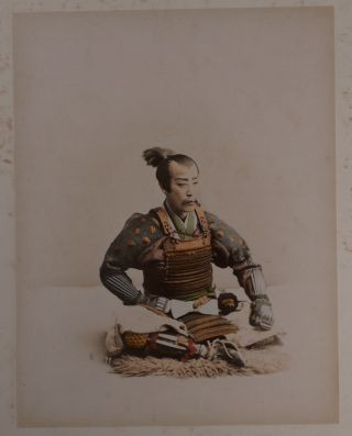 """[Attractive Lacquered Album with 50 Original Albumen Hand-Coloured Photographs of Japan, Including Interesting Images of Nikko Temples and Processions, Tea Houses, Villages and Hotels around Lake Hakone, Streets of Tokyo, and Nara, Panoramas of Penang and Hong Kong, Scenes of Execution in Canton, Portraits of """"Maoris"""" and Samoans, etc.]."""