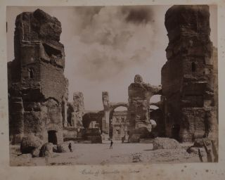Album with 65 Original Albumen and Gelatin Silver Studio Photographs of Italy, France, Germany,...