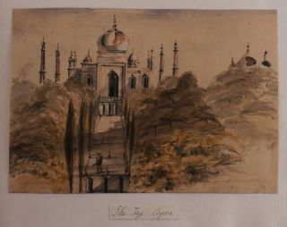 Album of Ten Original Watercolour Views of India and from the Homeward Voyage