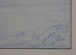 [Large Signed Watercolour Panorama of Gibraltar, Titled]: Gibraltar.