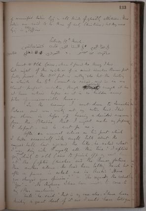 A Historically Important Manuscript Diary Documenting Butler's Work in Egypt as a Tutor to the...