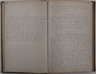[A Historically Important Manuscript Diary Documenting Butler's Work in Egypt as a Tutor to the Sons to Khedive Tewfik Pasha, with Detailed Descriptions of His Conversations with the Khedive, His Ministers and Courtiers, European Diplomats and Residents, Mutiny in the Egyptian Army in February 1881, Religious Holidays, State Ceremonies, Coptic Churches and Monasteries, Anecdotes from Egyptian Life, Account of the Chios Island Earthquake, Butler's Excursions to the Antiquities of Turkey and Greece, etc., Titled:] Notes Taken in Egypt, &c. 1881.