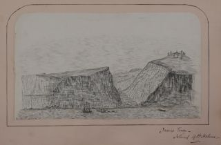 Album of Fifteen Original Ink Drawings and Watercolours of Saint Helena, Ascension Island and the...