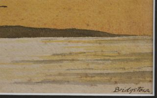 """[Original Unsigned Watercolour Titled:] """"Barbadoes from the North-West. Bridgetown."""""""