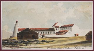 "Original Two Unsigned Watercolours, One Titled:] ""Quarantine Station - Flores Island - off..."