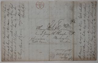 """[Autograph Letter Signed by Charles Kyte' Deputy Vendue Master of the New Colony of British Guiana to the Ex-Governor of the Colony Henry Beard' with the Account for his Cotton Estate' and Report of the """"Strong Symptoms of Insubordination"""" among the Slaves of the Colony's Cotton Plantations]."""