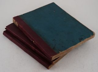 """[Collection of Three Volumes of Logbooks, Recording the Voyage of the East India Contract Ship """"Larkins"""" (Captain Charles Ingram) from London to Calcutta via Cape of Good Hope and Madras, and Back to London via Madras, Cape of Good Hope and St. Helena, 12 March 1840 – 27 February 1841]."""