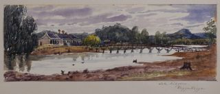 A Collection of Five (Including Title) Attractive Original Early Unsigned Watercolours of...