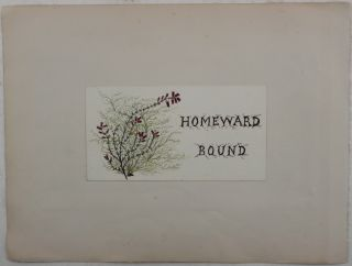 "[A Collection of Five (Including Title) Attractive Original Early Unsigned Watercolours of Australia Including Botany Bay, Lake Midgeon, Wagga-Wagga; Tamar River, Tasmania (x2) and the Title of the Collection ""Homeward Bound""]."
