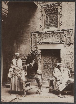 [Album with Eighty-six Large Albumen Studio Photographs and Three Photogravures Showing Egyptians at work and Domestic Scenes, Views of Buildings and Street Scenes in Cairo, Great Pyramids of Giza, Main Sites of Upper Egypt Including Dendera, Karnak, Thebes, Philae and with about Twenty-five Detailed Views of Hieroglyphic Reliefs of the Main Temples of Upper Egypt].