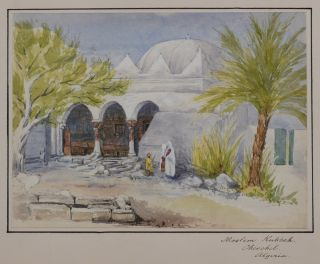 Collection of Three Attractive Original Watercolour Views Showing Cherchell and Mustapha...