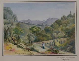 [Collection of Three Attractive Original Watercolour Views Showing Cherchell and Mustapha Superieur in Algeria].