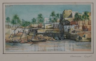 Collection of Nine Attractive Original Watercolour Views of Egypt and the River Nile]. MIDDLE...