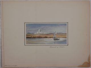 [Collection of Nine Attractive Original Watercolour Views of Egypt and the River Nile].