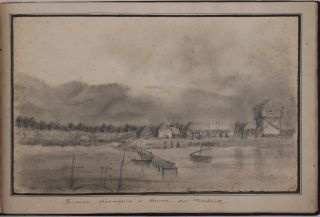 Album with Fifteen Pencil Drawings of the Russian Naval Station on Ashradeh Island and the...