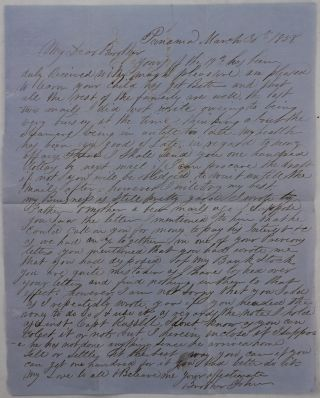 [Pair of Autograph Letters Signed by a Young American Merchant in Panama City to His Brother in Boston].