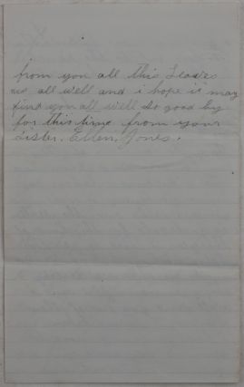 "[Autograph Letter Signed by the Wife of a Cattle Rancher from Fort Bidwell, Northern California, with the Latest News of the Tensions between the Settlers and the Northern Paiute People, and Mentioning Chief Winnemucca, U.S. Soldiers Capturing ""Seventeen Runagades"" and Her Being ""so Fraid of the Indians""]."