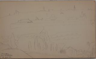 [Sketch Book of Twenty Original Watercolours and Pencil Drawings Taken during His WW2 Service in North Africa & the Middle East].