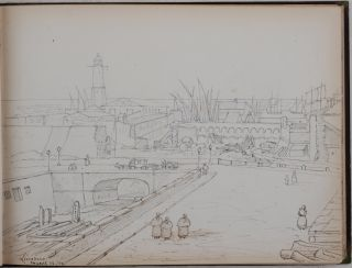 [Album with over Forty Original Pencil Drawings and Watercolours Depicting Views and People of Italy, Switzerland, Greece and Turkey, Titled:] Georgina Pigott. Rome, Jan. 61.