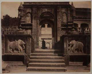 Album with Forty-Nine Early Original Albumen Photographs of Views of Sri Lanka with Many Views of...
