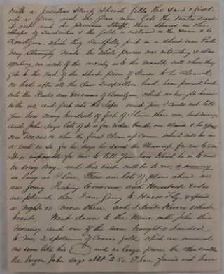 [Autograph Letter Signed by John Radford (Originally from Lynn, Massachusetts), with an Extensive Description of His Visit to the Cariboo Hydraulic (Bullion Pit) Mine on the South Fork of the Quesnel River, Detailing on the Gold Mining Operations and His Close Relations with the Mine's Superintendent John Hobson].