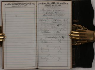 """[Collection of Four Notebooks Kept During His Service as a Carpenter on USS """"Benicia"""" and """"USS"""" Alaska in 1870-1874, Containing a 12-Page """"Extracts from Log of U.S.S. Benicia on the Expedition to Corea,"""" with a First-Hand Account of the 1871 US Navy Expedition to Korea and the Battle of Ganghwa Island, June 10-11, 1871]."""
