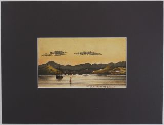 """[Original Unsigned Watercolour Titled:] """"St. Thomas. West Indies."""""""
