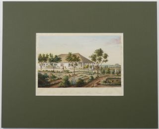[Finely Executed Unsigned Watercolour of:] Residence of the Rev. Isaac N. Allen, Poona. 1846.