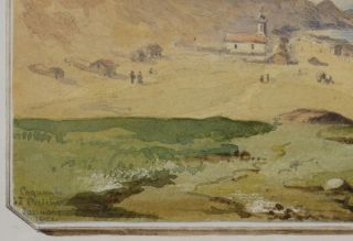 [Original Watercolour Showing the Harbour of Coquimbo, Chile].