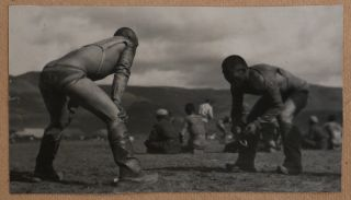 [Album with ca. 150 Original Gelatin Silver Snapshot Photographs of Ulaanbaatar during the Early Years of Socialistic Mongolia, Showing the Sükhbaatar Square, the Chinese Quarter, Bogd Khan's Winter Palace, Buddhist Temples, Zakhadyr Market, Scenes from the Naadam Festival, Mongolian Wrestling, Costumes, Hairdos, Yurts and Houses, etc.]