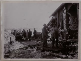 Collection of Seventeen Large Original Gelatin Silver Photographs Showing the Construction on...