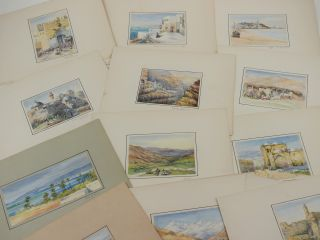 Collection of Twenty-eight Very Attractive Original Watercolour Views of the Holy Land; [With:]...